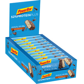PowerBar ProteinPlus 52% Bar Box 20x50g, Chocolate Nuts